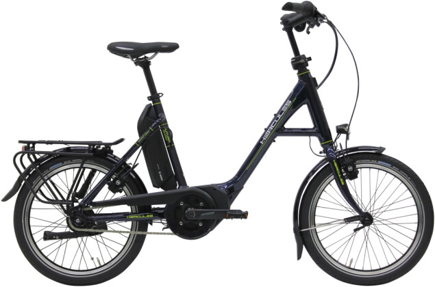 "e-Citybike Hercules Futura Compact R8 400 20"" Zentralrohr nachtblau 2021"