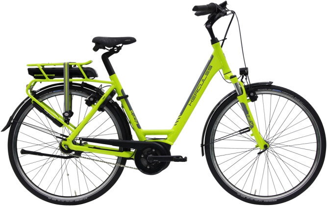 e-Citybike Hercules E-Joy R7 Zentralrohr grün 2021