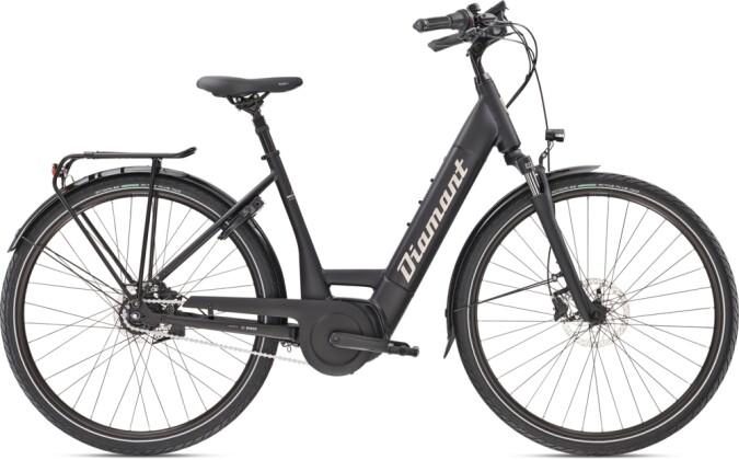 e-Citybike Diamant Beryll Deluxe+ RT TIE Tiefschwarz 2021