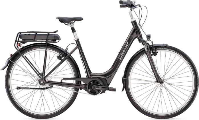 e-Citybike Diamant Achat+ TIE Obsidianschwarz 2021