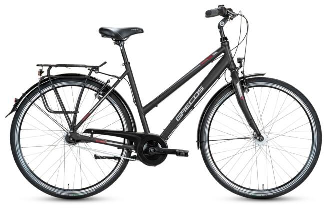 Citybike Grecos BOSTON SCHWARZ  Trapez 2021