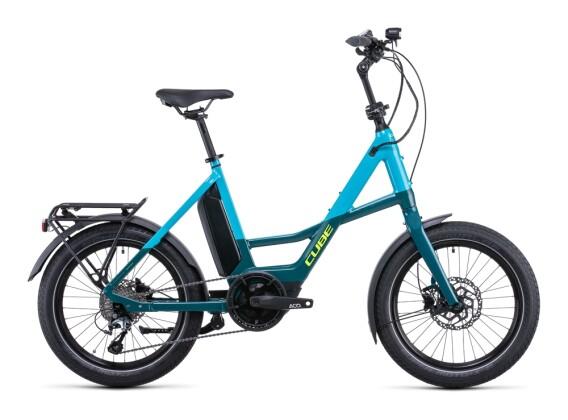 e-Citybike Cube Compact Sport Hybrid 500 blue´n´lime 2022