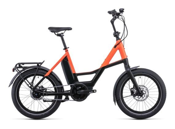 e-Citybike Cube Compact Hybrid 500 black´n´sparkorange 2022