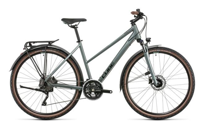 Trekkingbike Cube Nature Pro Allroad silvergreen´n´black 2022