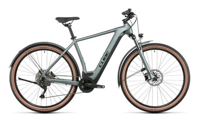 e-Mountainbike Cube Nuride Hybrid Pro 625 Allroad silvergreen´n´black 2022