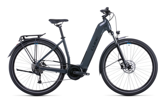 e-Citybike Cube Touring Hybrid ONE 625 grey´n´blue 2022