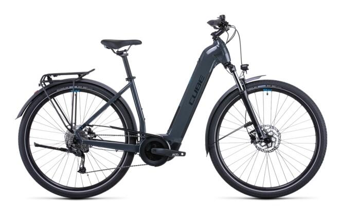 e-Citybike Cube Touring Hybrid ONE 400 grey´n´blue 2022