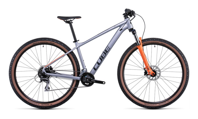 Mountainbike Cube Aim Race silver´n´orange 2022