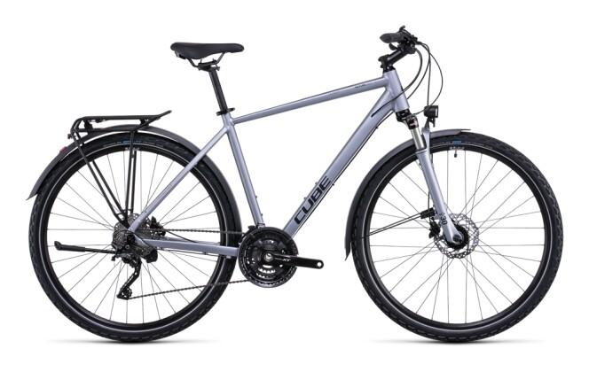 Trekkingbike Cube Nature EXC Allroad polarsilver´n´black 2022