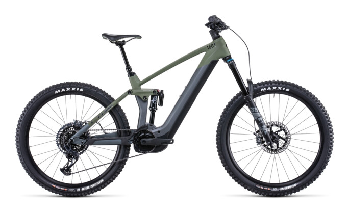 e-Mountainbike Cube Stereo Hybrid 160 HPC TM 625 27.5 flashgrey´n´oliv 2022