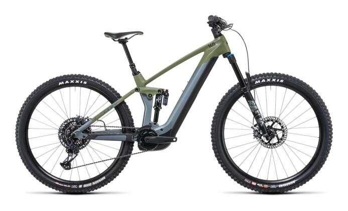 e-Mountainbike Cube Stereo Hybrid 140 HPC TM 750 29 flashgrey´n´olive 2022
