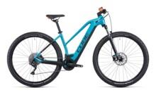 e-Mountainbike Cube Reaction Hybrid ONE 500 aquamarine´n´orange