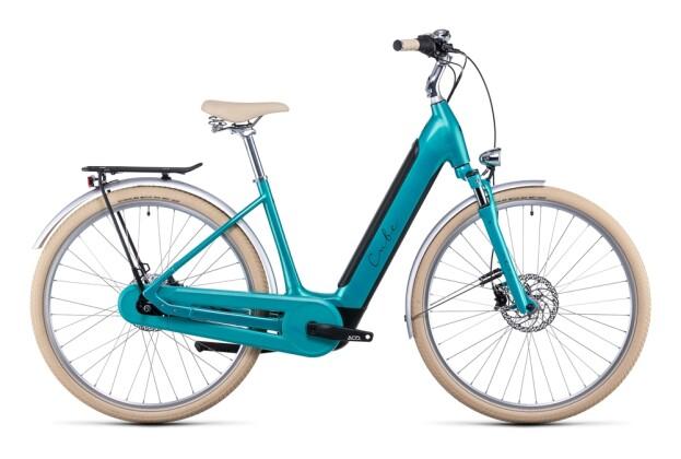 e-Citybike Cube Ella Cruise Hybrid 500 aquamarine´n´black 2022