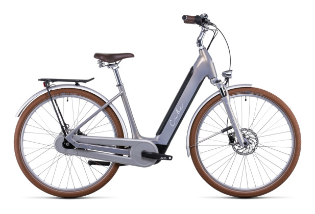 e-Citybike Cube Ella Cruise Hybrid 500 pearlysilver´n´white 2022