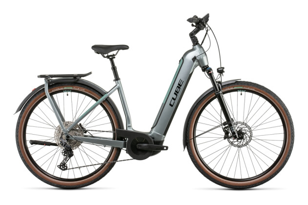 e-Trekkingbike Cube Kathmandu Hybrid EXC 750 silvergreen´n´black 2022