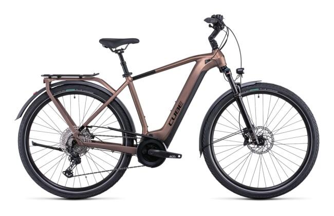 e-Citybike Cube Touring Hybrid EXC 625 mocha´n´black 2022