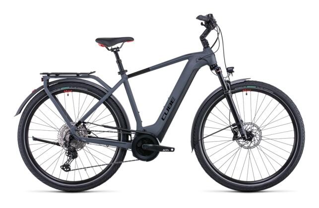 e-Citybike Cube Touring Hybrid EXC 625 grey´n´red 2022