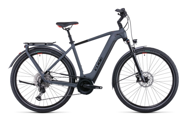 e-Citybike Cube Touring Hybrid EXC 500 grey´n´red 2022