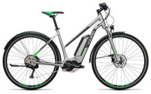 E-Bike Cube Cross Hybrid Race Allroad 500 silver´n´green