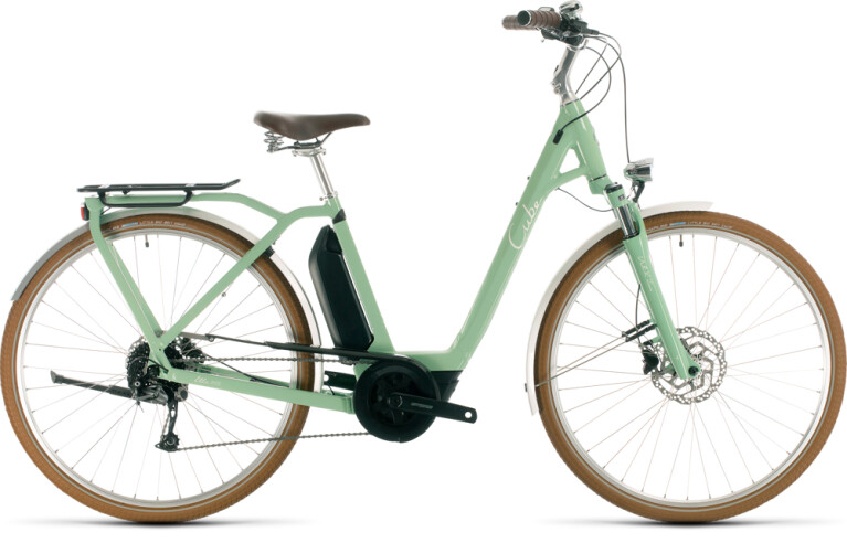 Cube - Ella Ride Hybrid 500 green´n´white