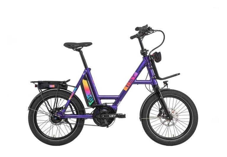 i:SY - E-Bike I:sy Compact Bosch  8G FL, Gate Zahnriemen, Rainbow speed violet