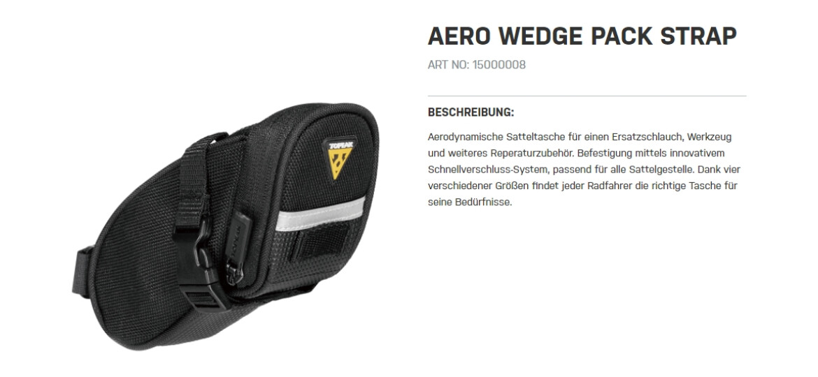 Topeak Aero Wedge Pack Strap