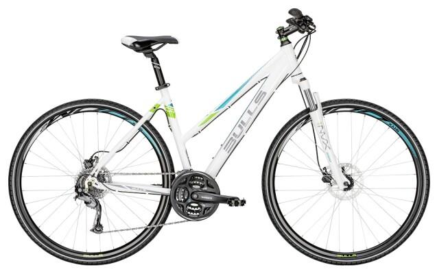 Bulls - Cross Bike 1 Damen Trapez weiß-grün