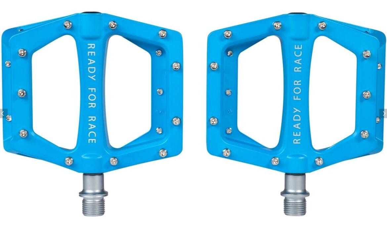 Cube RFR Pedale Flat CMPT Blau