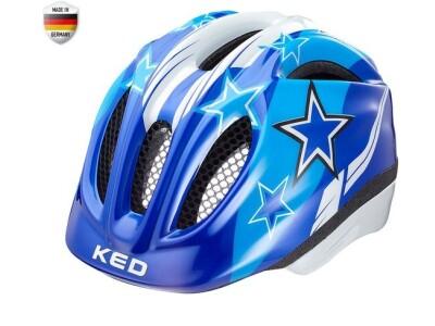 KED Meggy Kinderhelm Blue Stars