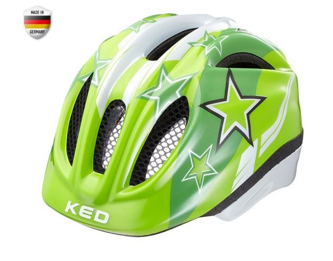 KED Meggy Kinderhelm Green Stars