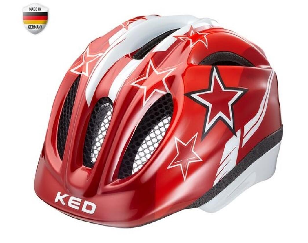 KED Meggy Kinderhelm Red Stars