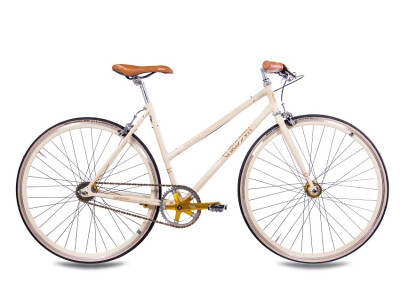 FGS CrMo Lady 2S Kick Shift Sturmey Archer creme gold