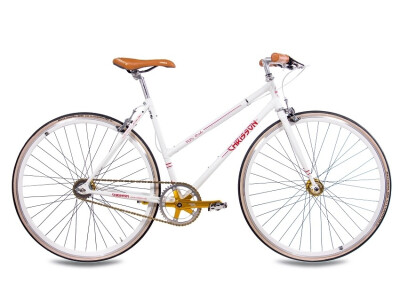FGS CrMo Lady 2S Kick Shift Sturmey Archer weiss rot