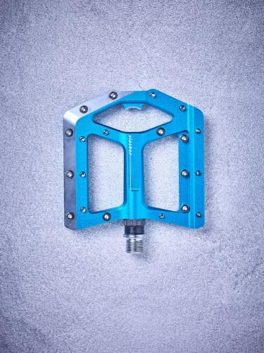 Cube Flat Pedals Slasher, blau