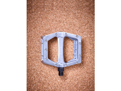 Cube Flat Pedal CMPT, silber