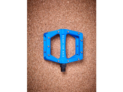 Cube Flat Pedal CMPT, blau