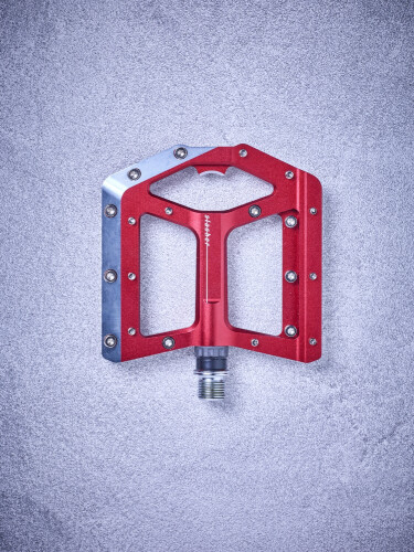 Cube Flat Pedals Slasher, rot