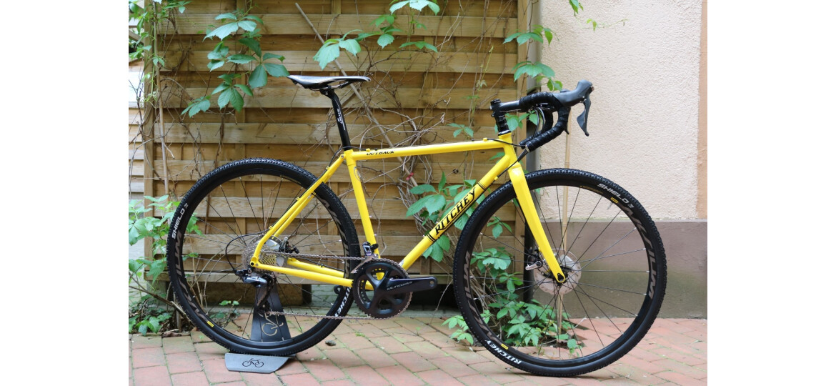 Ritchey OUTBACK DISC GRAVEL CROSS RAHMENSET gelb 2018 mit SHIMANO ULTEGRA R8000