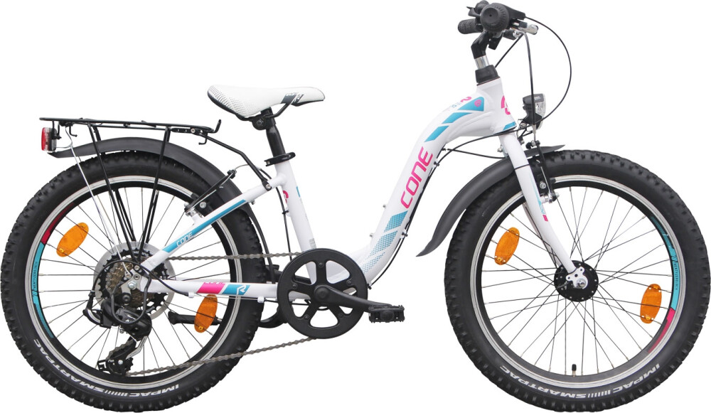 CONE Bikes - 200 ND 7-Gang W (Weiss-Pink-Türkis)