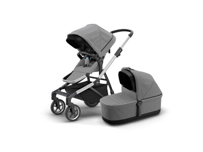 Thule Sleek + Thule Sleek Bassinet - Grey Melange (2020) incl. Versand