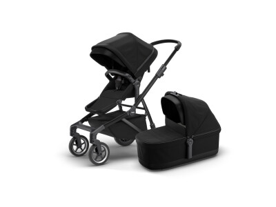 Thule Sleek + Thule Sleek Bassinet - Black on Black (2020) incl. Versand