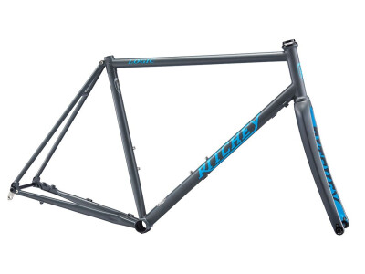 ROAD LOGIC DISC Rahmenset 2020 Grey/Blue Logo