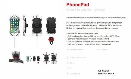 KlickFix Phone Pad Quad Mini Adapter