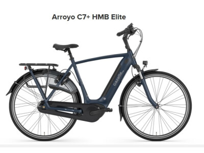 Gazelle Arroyo C7+ HMB Elite, Herren 57, 500Wh, navy matt