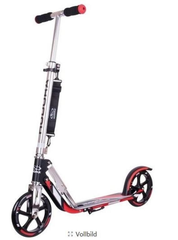 Hudora - Hudora Cityroller Big Wheel schwarz/silber/rot Alu 205mm