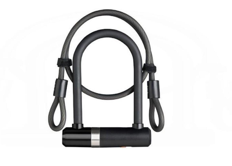 AXA Bügelschloss Mini U-Lock + Kabel 14 mm 150 mm mit Schlüssel