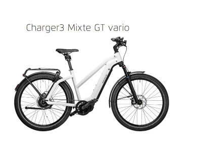 Riese und Müller Charger3 Mixte GT Vario, Trapez53, 500Wh, Ceramic white, 2020
