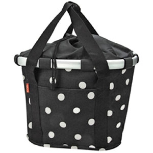 KlickFix Reisenthel Tasche Bikebasket black dots