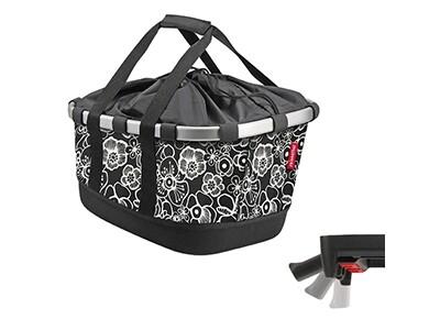KlickFix Reisenthel Tasche Bikebasket GT Uniklip fleur schwarz