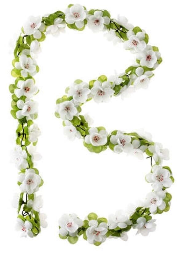 Basil Flower Garland Rosengirlande weiß